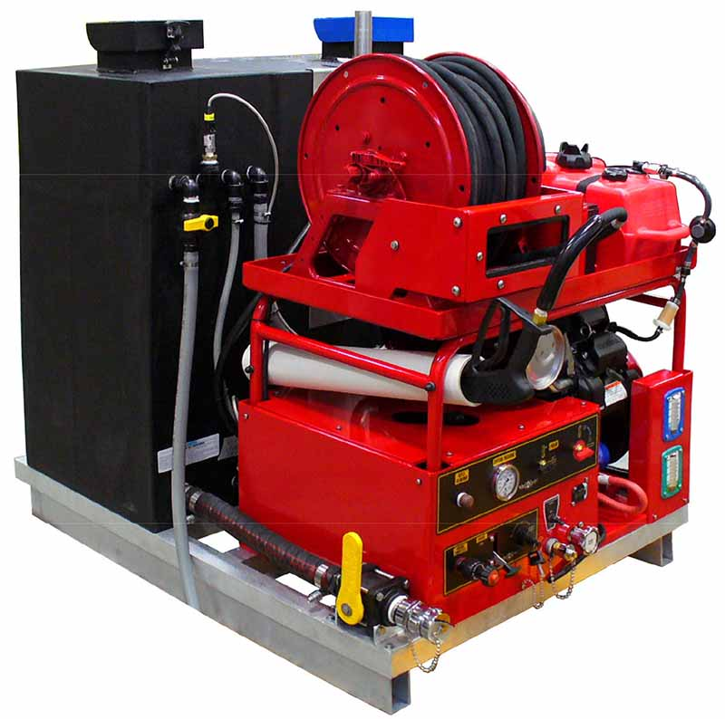 8 GPM @ 2800 PSI Ultra-High Pressure Skid Unit