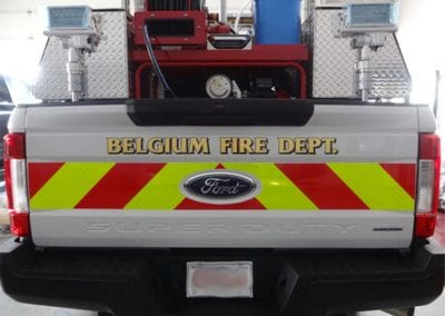 Belgium Ultra High Pressure Fire Fighting Truck back gate up