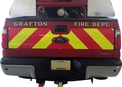 Grafton Fire Truck back