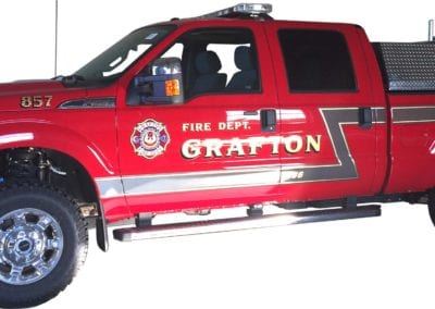 Grafton FireTruck Ultra High Pressure Skid Unit side