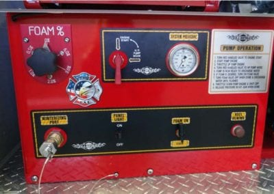 Ultra High Pressure Fire Suppression 20GPM @ 1500 PSI panel